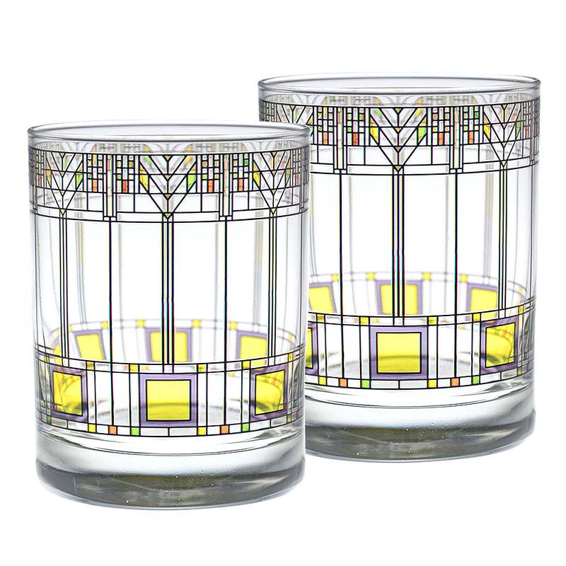Frank Lloyd Wright Tree of Life DOF Glasses (Set of 2)