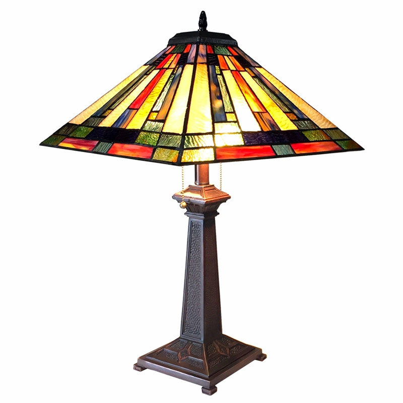 Arts & Crafts Gerard Stained Glass Table Lamp