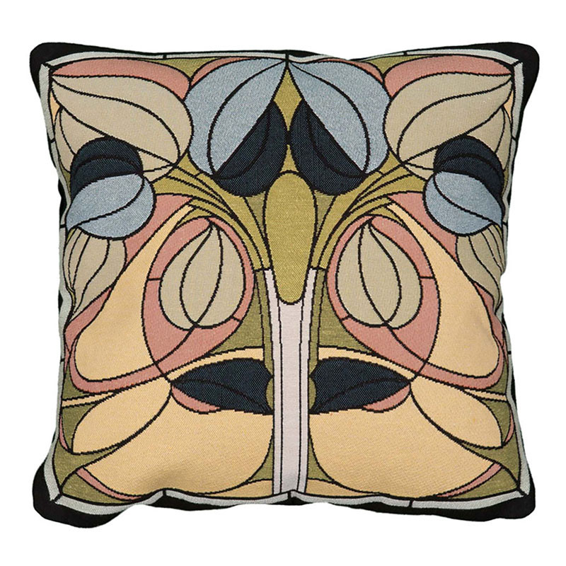 Arts & Crafts Art Nouveau Spring Floral Tapestry Pillow
