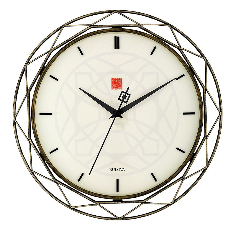 Frank Lloyd Wright Luxfer Prism Wall Clock
