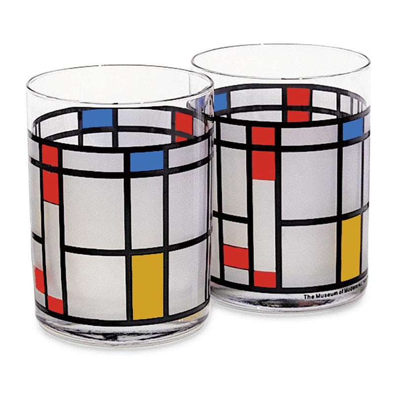 Mondrian Double Old Fashioned Glass (Set of 2)