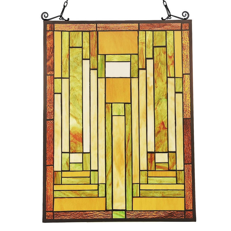 Arts & Crafts Lunden Stained Glass Panel