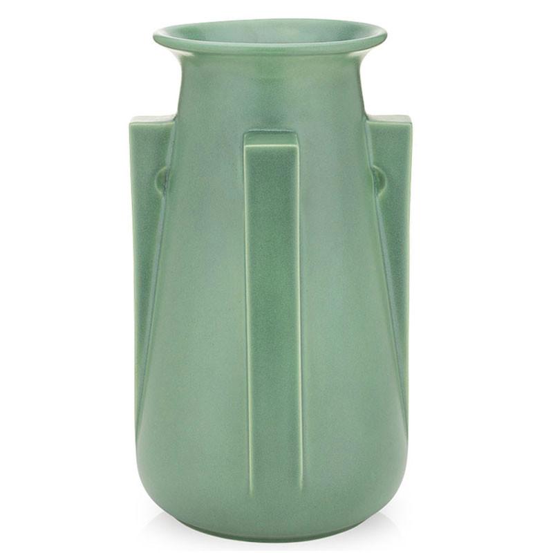 Teco Four Buttress Vase - Green
