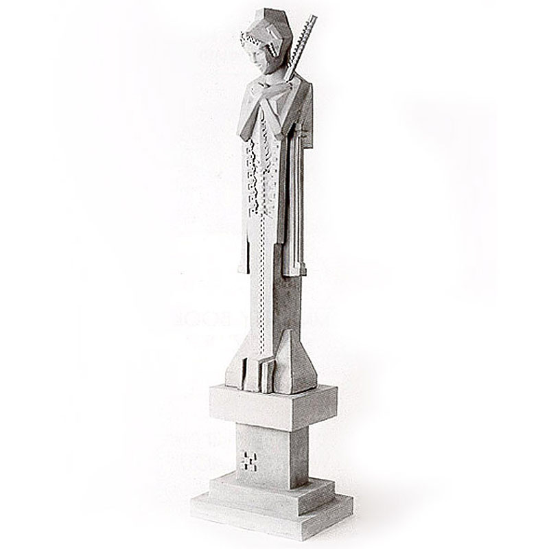 Frank Lloyd Wright Sprite Sceptre Sculpture with Pedestal