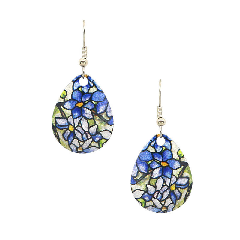 Louis C. Tiffany Clematis Drop Earrings