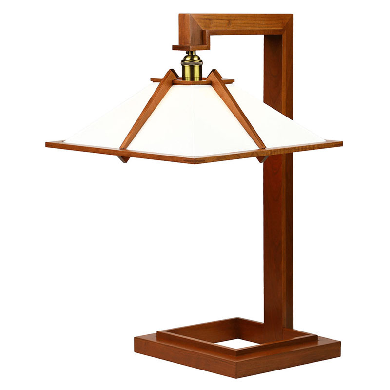 Frank Lloyd Wright Taliesin 1 Table Lamp - Cherry