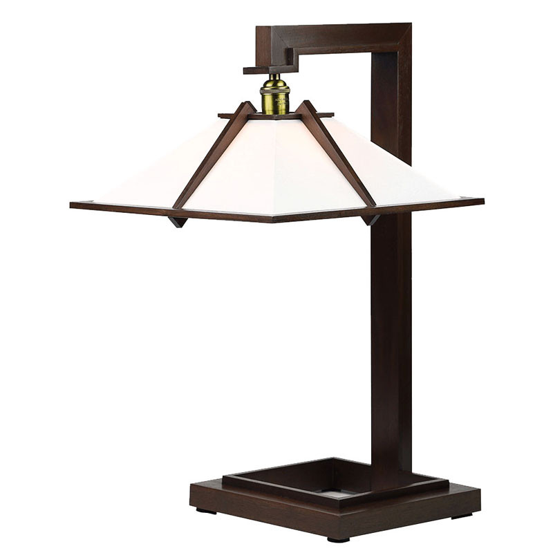 Frank Lloyd Wright Taliesin 1 Table Lamp - Walnut