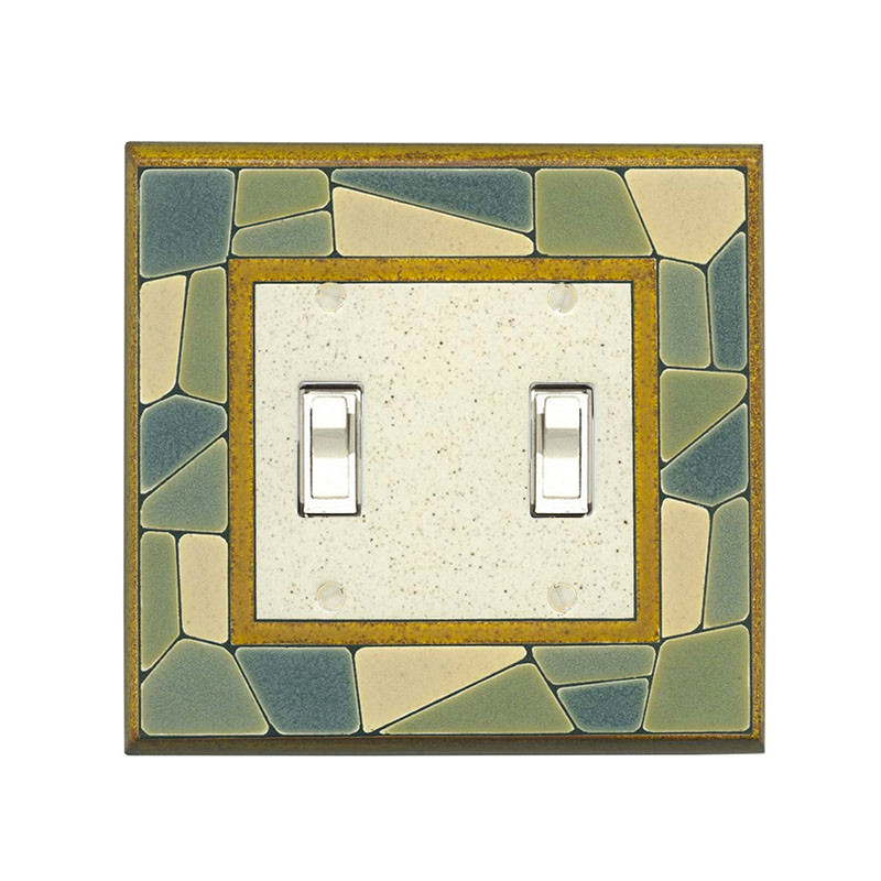 Mosaic Parts Pattern Tile Ceramic Switchplate