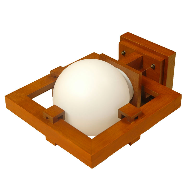 Frank Lloyd Wright Robie Wall Lamp - Cherry