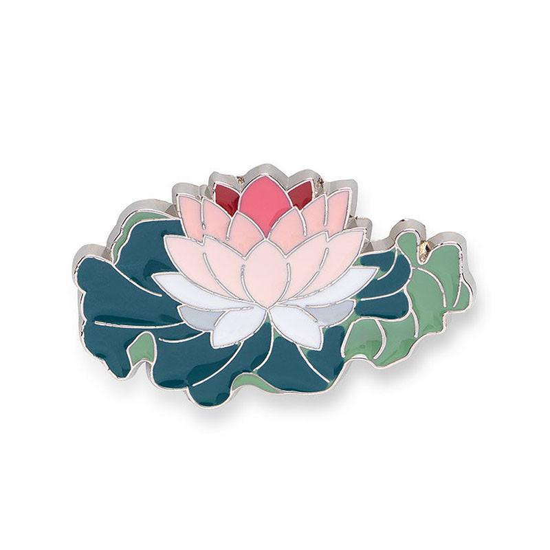 Lotus Blossom Enamel Pin