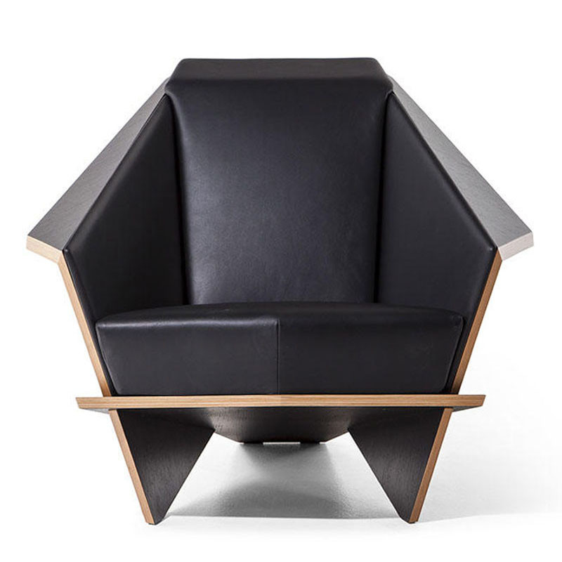 Frank Lloyd Wright Taliesin Origami Chair - Leather Upholstery