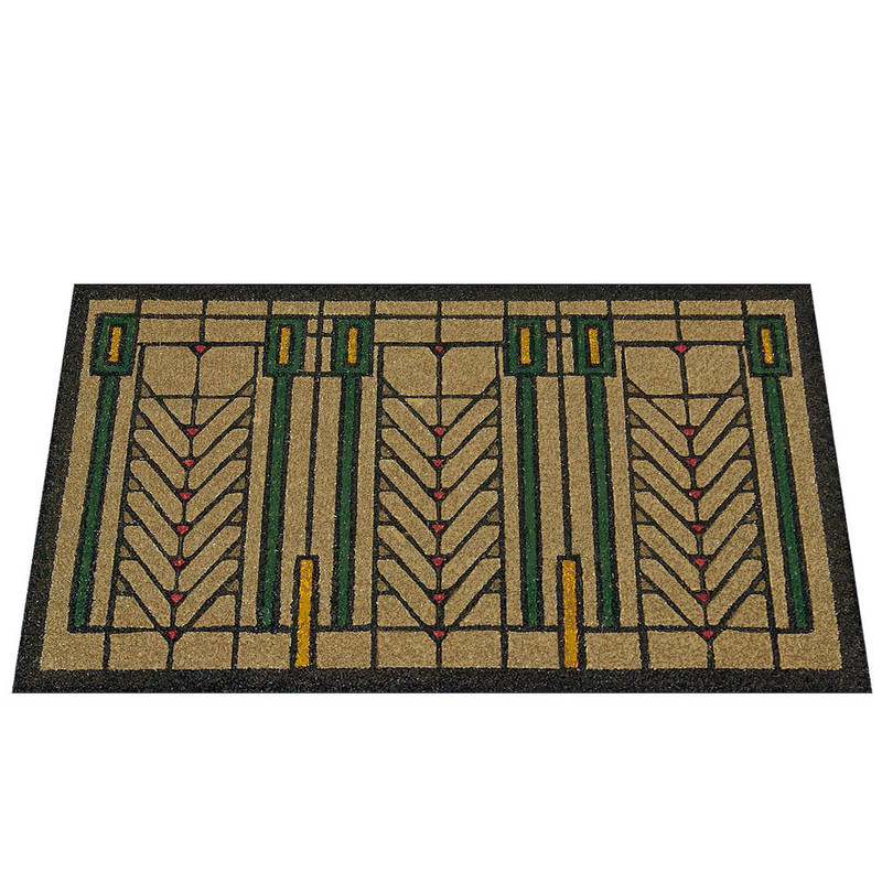 Frank Lloyd Wright Colored Tree of Life Doormat Perspective