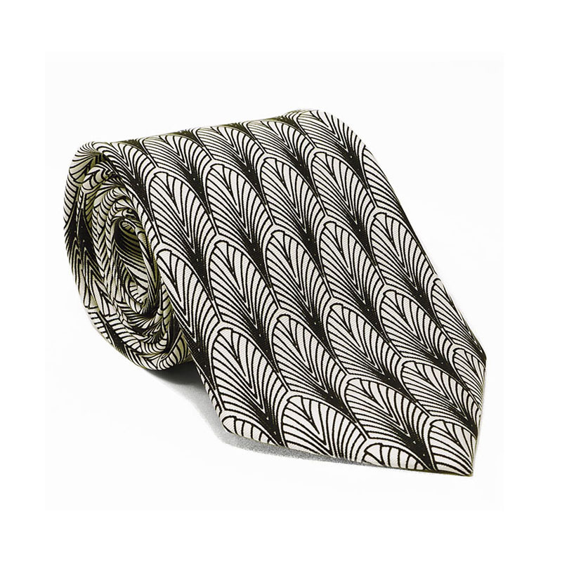 Art Deco New York Silk Tie