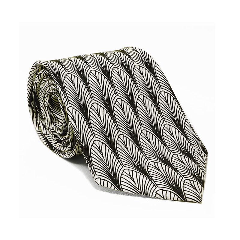 Art Deco New York Silk Tie