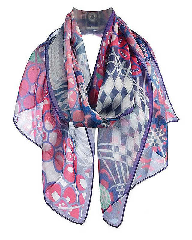 Mackintosh Tobacco Flower Chiffon Scarf