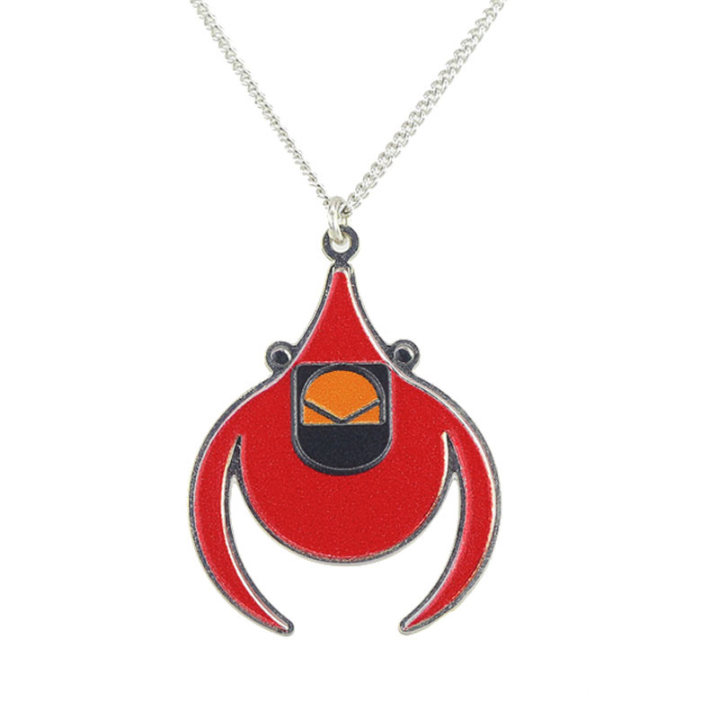 Charley Harper Flying Cardinal Pendant Necklace