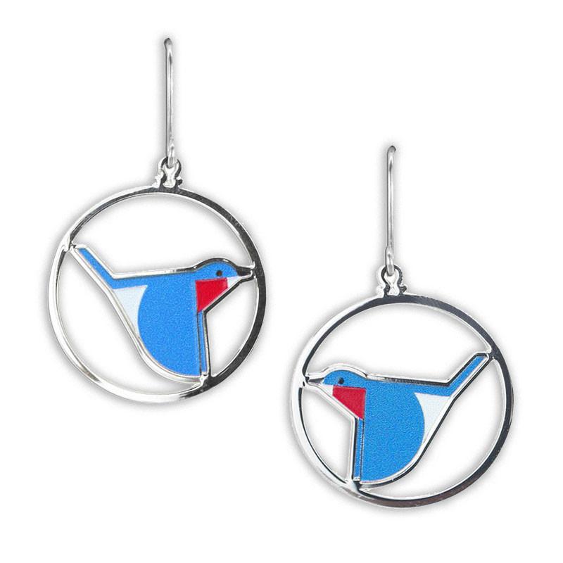 Charley Harper Bluebird Earrings