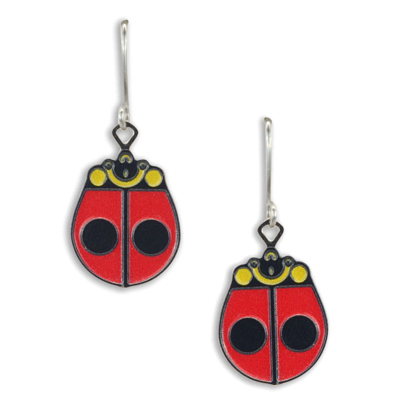 Charley Harper Ladybug Earrings
