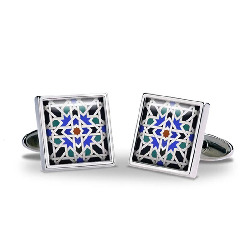 Alhambra Geometric Tile Cufflinks