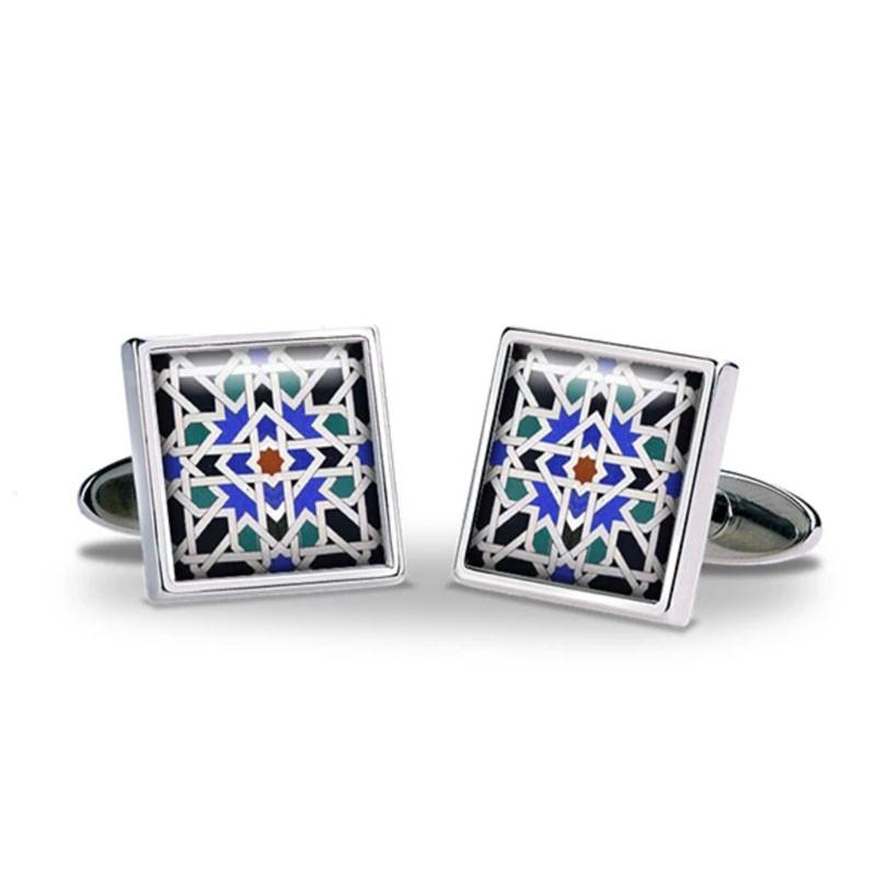 Alhambra Geometric Tile Cufflinks