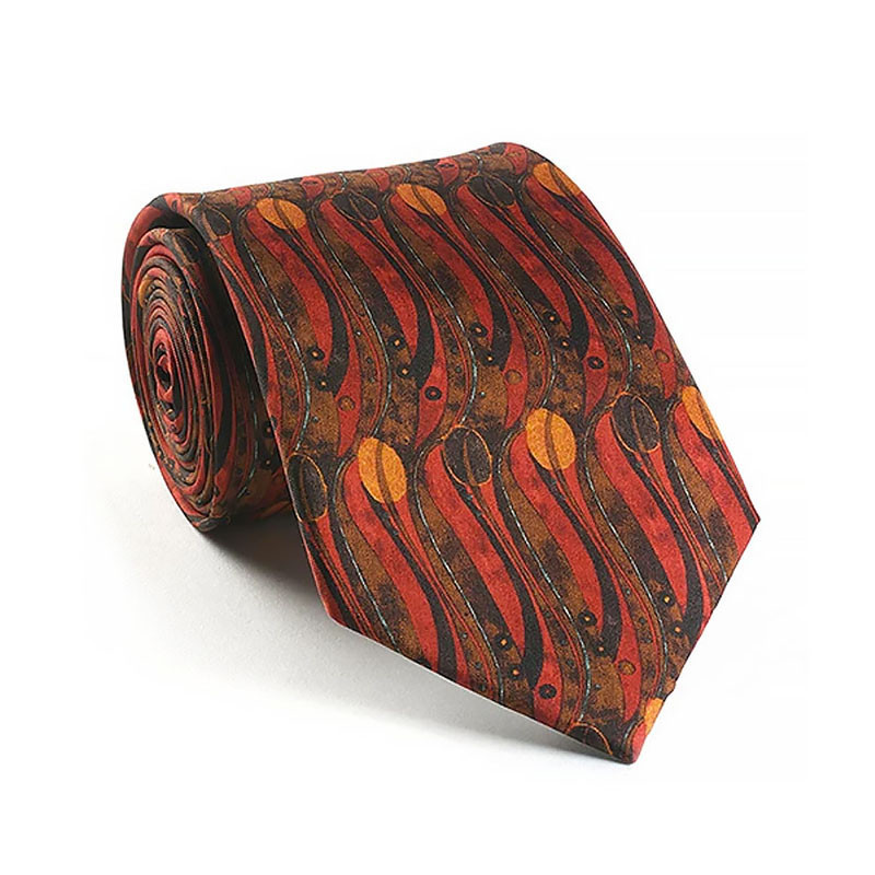 Charles Rennie Mackintosh Tulips Silk Tie