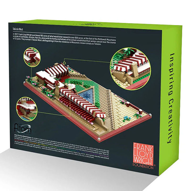 Taliesin West Frank Lloyd Wright Building Brick Set Box Back
