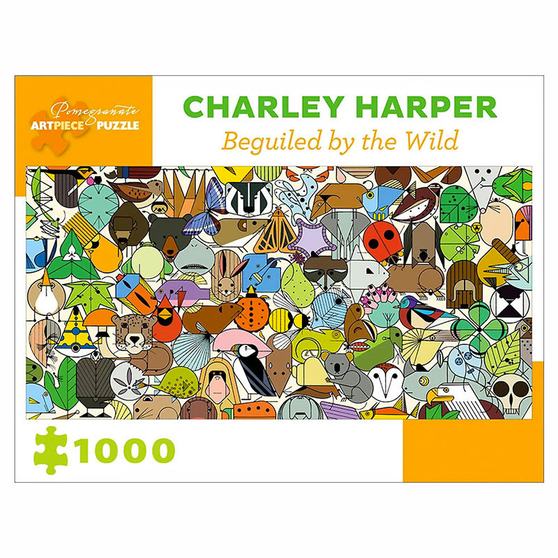 Charley Harper Beguiled by the Wild 1000 Piece Jigsaw Puzzle