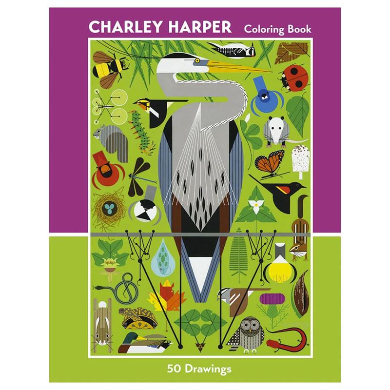 Charley Harper Coloring Book 50 Drawings