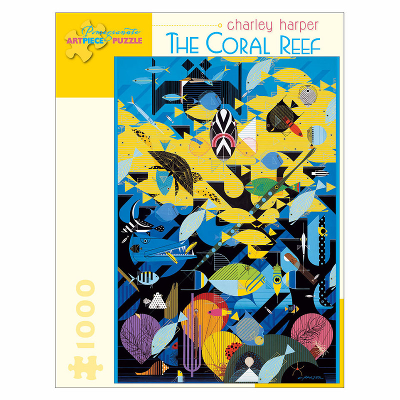 Charley Harper Coral Reef 1000 Piece Jigsaw Puzzle