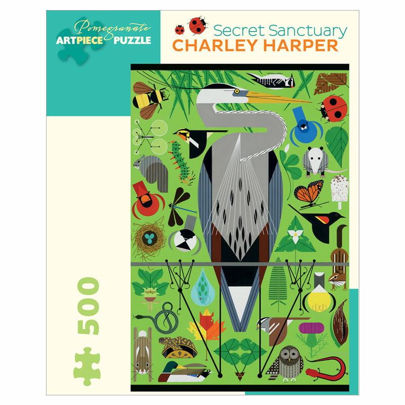 Charley Harper Secret Sanctuary 500 Piece Jigsaw Puzzle