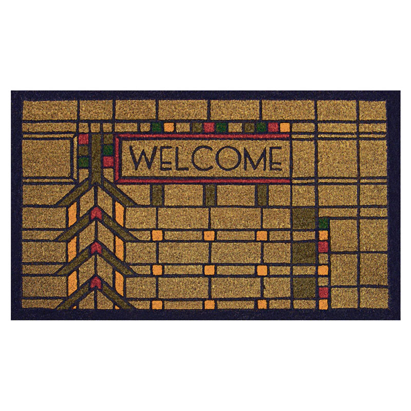 Frank Lloyd Wright Colored Darwin D. Martin House Welcome Mat