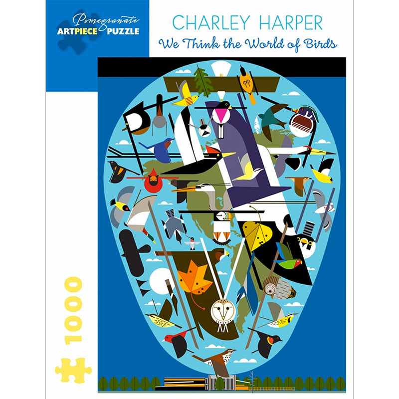 Charley Harper The World of Birds 1000 Piece Jigsaw Puzzle