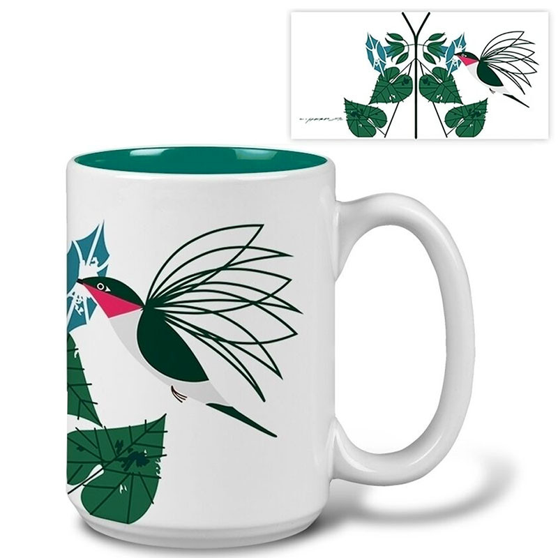 Charley Harper Little Sipper Hummingbird Mug