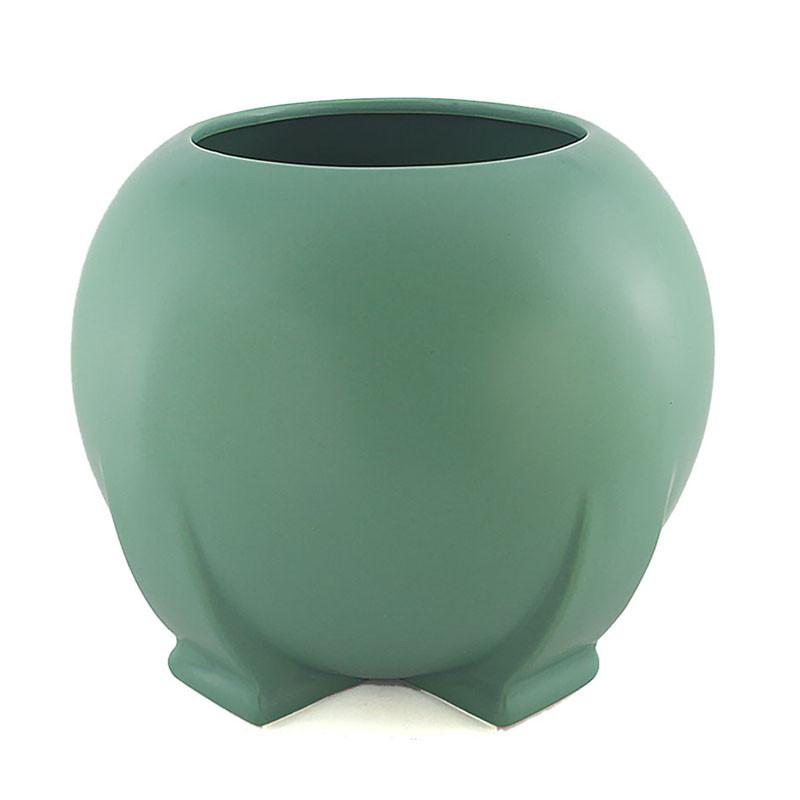 Teco Orb Vase - Green