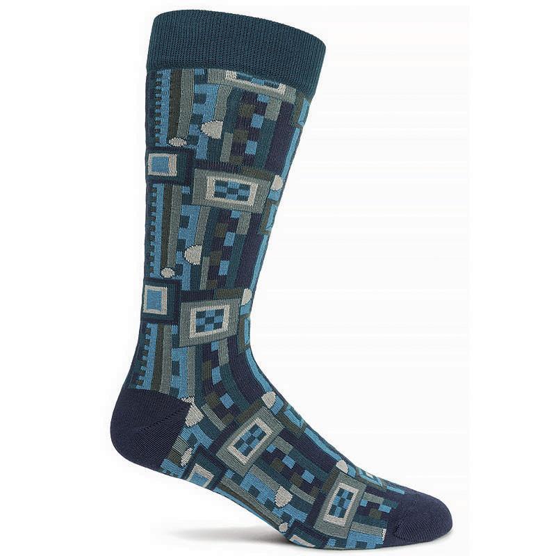 Frank Lloyd Wright Saguaro Men's Socks - Navy