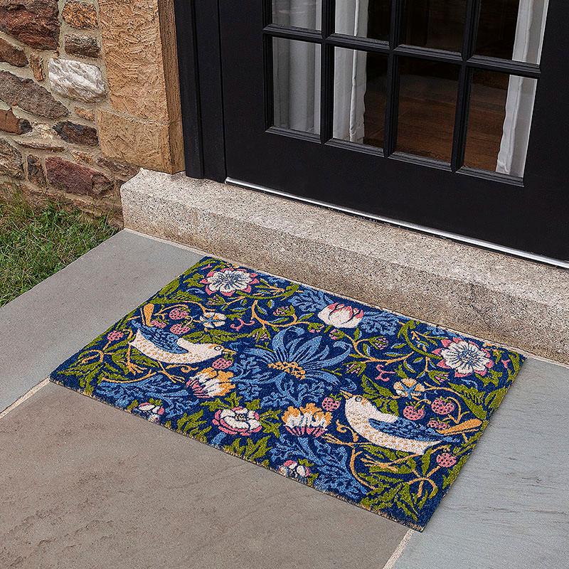 Arts & Crafts William Morris Strawberry Thief Doormat