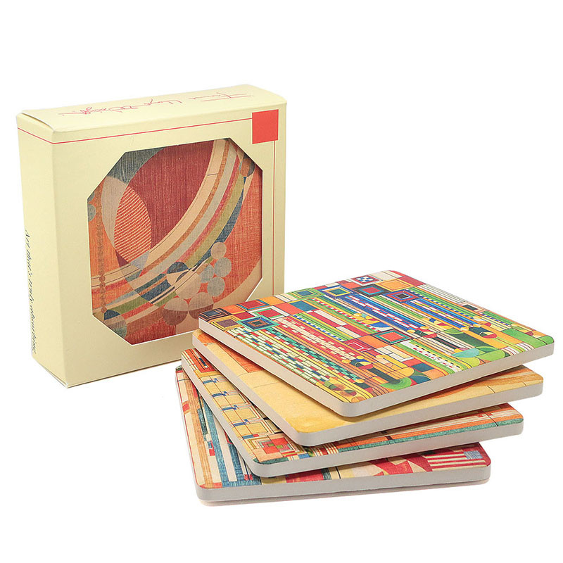 Frank Lloyd Wright Coasters Designs for Liberty Covers Gift Set 1