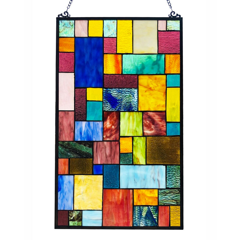 Verna Mosaic Art Glass Window Panel