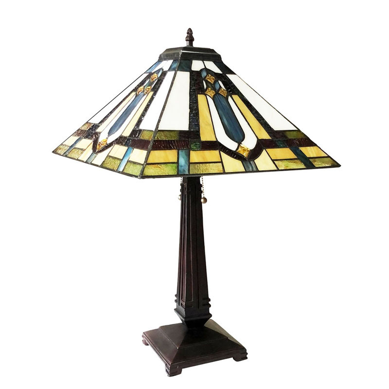 Arts & Crafts Archie Stained Glass Table Lamp