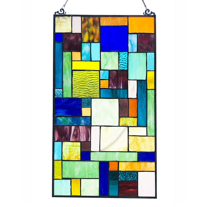 Rosalinda Mosaic Art Glass Window Panel