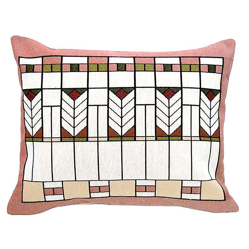 "Prairie Chevron Tapestry Lumbar Pillow - 14"" x 17"""