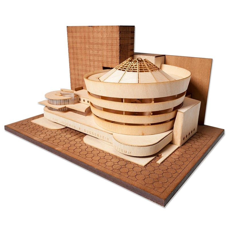 Guggenheim Museum Scale Replica Kit by Model Landmarks