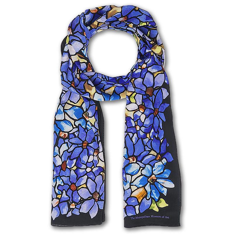 Louis C. Tiffany Clematis Crepe de Chine Silk Scarf