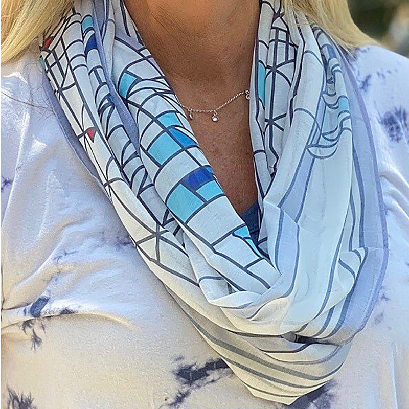 Frank Lloyd Wright Waterlilies Infinity Scarf