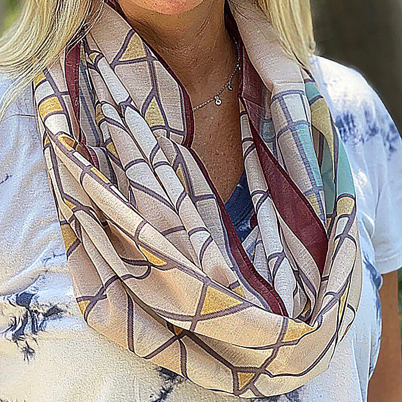 Frank Lloyd Wright Tree of Life Infinity Scarf