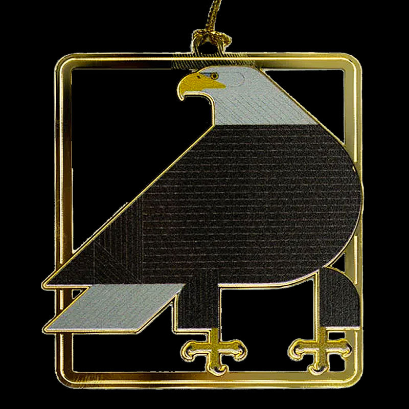 Charley Harper Brass Regal Eagle Ornament Adornment