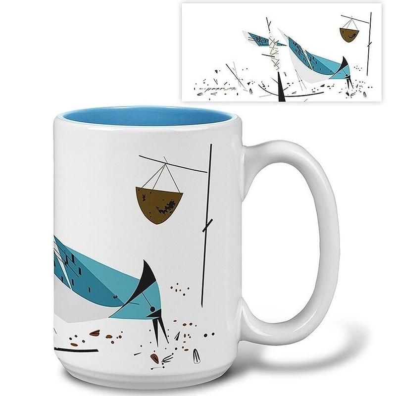 Charley Harper Blue Jay Mug
