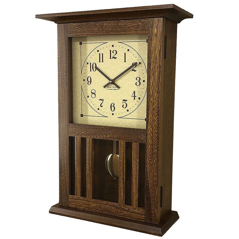 Amish Mission Wall Clock - Elm