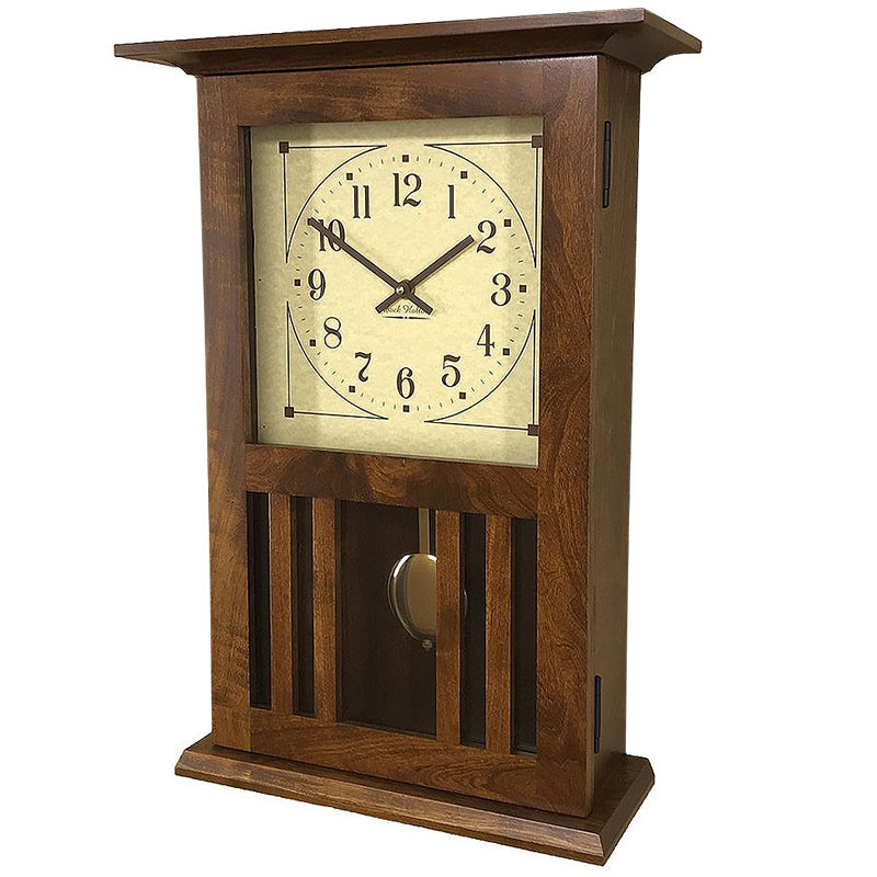 Amish Mission Wall Clock - Rustic Cherry