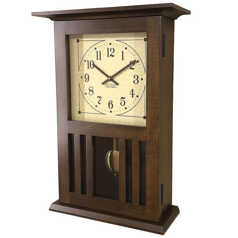 Amish Craftsman Mission Wall Clock - Brown Maple